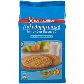 Μπισκότα ΠΑΠΑΔΟΠΟΥΛΟΥ πολυδημητριακά με 4 δημητριακά και γάλα (160g)