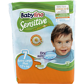 Πάνες BABYLINO Sensitive No.7, 17kg+ (14τεμ.)