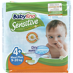 Πάνες BABYLINO Sensitive No.4+, 9-20kg (19τεμ.)