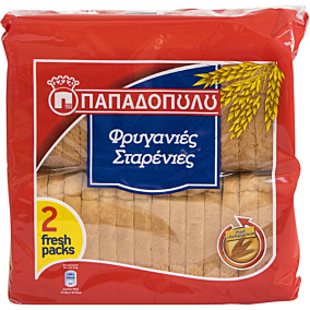 Φρυγανιά ΠΑΠΑΔΟΠΟΥΛΟΥ σίτου (255g)