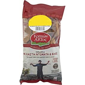 Παξιμάδια ΚΡΗΤΩΝ ΑΡΤΟΣ με λιαστή ντομάτα και ελιά (400g)