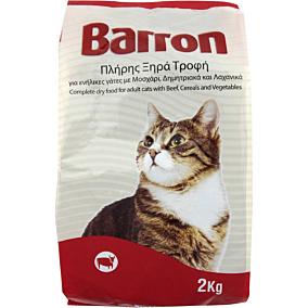 Ξηρά τροφή BARRON γάτας με μοσχάρι, δημητριακά και λαχανικά (2kg)