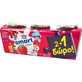 Γιαούρτι επιδόρπιο ΔΕΛΤΑ smart φράουλα (3x145g)