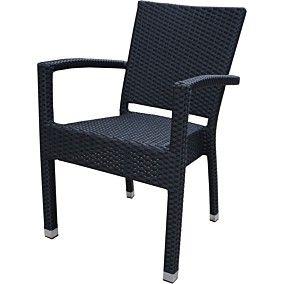 Καρέκλα RESORT LINE αλουμινίου μαύρη 59x56x86cm