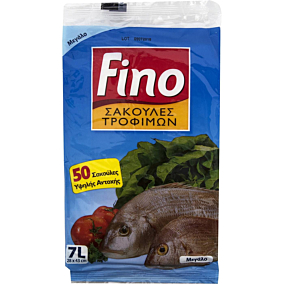 Σακούλες τροφίμων FINO BAGS μεγάλες 28x43cm (50τεμ.)