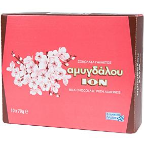 Σοκολάτα ΙΟΝ γάλακτος αμυγδάλου (10x70g)