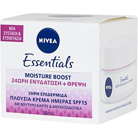Κρέμα ημέρας NIVEA Essentials ενυδατική SPF15 ξηρή, για ευαίσθητη επιδερμίδα (50ml)
