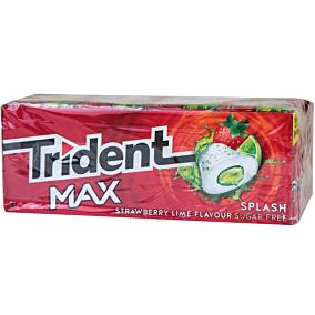 Τσίχλες TRIDENT Max splash strawberry lime (16τεμ.)