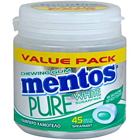 Τσίχλες MENTOS Pure White δυόσμος (90g)