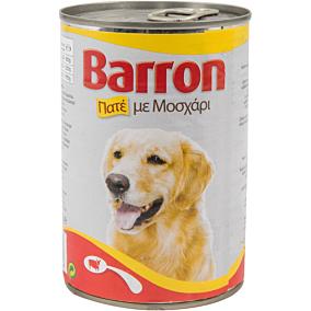 Τροφή BARRON σκύλου πατέ μοσχαριού (400g)