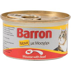 Τροφή BARRON γάτας πατέ μοσχαριού (85g)