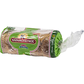 Ψωμί ΚΑΡΑΜΟΛΕΓΚΟΣ τοστ ολικής άλεσης (950g)