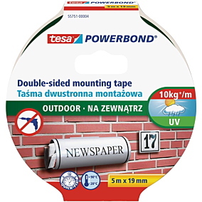 Ταινία TESA στερέωσης για εξωτερική χρήση 5m x 19mm
