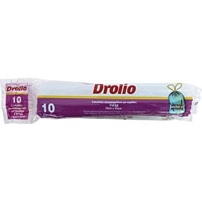 Σακούλες απορριμμάτων DROLIO με κορδόνι γίγας 70x95cm (10τεμ.)