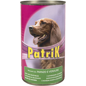 Τροφή PATRIK σκύλου βοδινό και λαχανικά (1,25kg)
