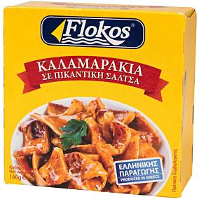 Κονσέρβα FLOKOS καλαμαράκια σε πικάντικη σάλτσα (160g)