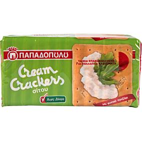 Κράκερ ΠΑΠΑΔΟΠΟΥΛΟΥ cream crackers χωρίς ζάχαρη (165g)
