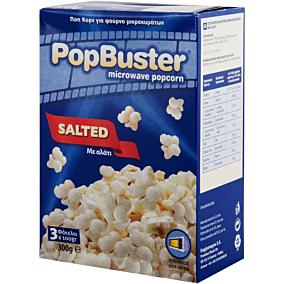 Ποπ κορν POPBUSTER για μικροκύματα με αλάτι (100g)