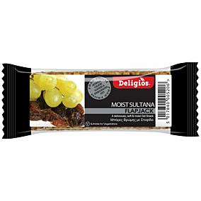 Μπάρα δημητριακών DELIGIOS Flap Jack σταφίδα (80g)