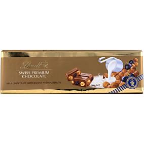 Σοκολάτα LINDT με σταφίδες και ξηρούς καρπούς (300g)