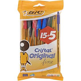 Στυλό διαρκείας BIC cristal fine (20τεμ.)