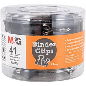 Πιάστρες M&G μαύρες 41mm (24τεμ.)