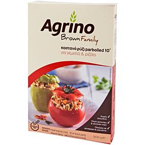 Ρύζι AGRINO brown family για γεμιστά και ριζότο 10' (500g)