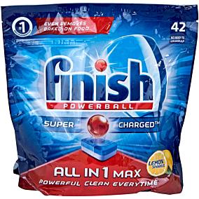 Απορρυπαντικό FINISH all in 1 πλυντηρίου πιάτων λεμόνι, σε κάψουλες (42τεμ.)