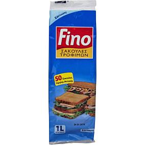 Σακούλες τροφίμων FINO BAGS μικρές 17x24cm (50τεμ.)