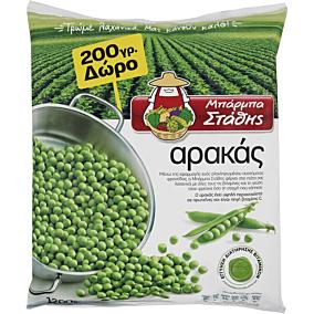 Αρακάς ΜΠΑΡΜΠΑ ΣΤΑΘΗΣ κατεψυγμένος 1kg+200g ΔΩΡΟ(1,2kg)