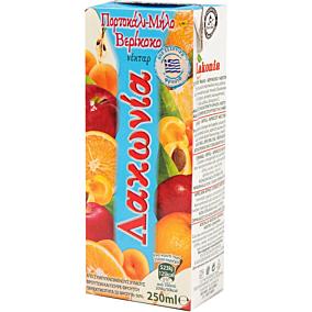 Χυμός ΛΑΚΩΝΙΑ κοκτέιλ 3 φρούτα (250ml)