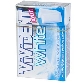 Τσίχλες VIVIDENT Xylit White baking soda μέντα (12τεμ.)