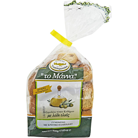 Παξιμαδάκια ΤΟ ΜΑΝΝΑ σίτου τύπου Κυθήρων με λάδι ελιάς (500g)