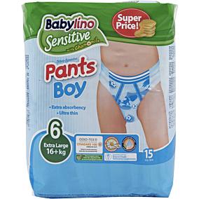 Πάνες BABYLINO Sensitive Pants Boy No.6, 16kg+ (15τεμ.)