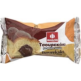 Τσουρεκάκι ΦΑΙΔΩΝ γεμιστό με κρέμα κακάο (95g)