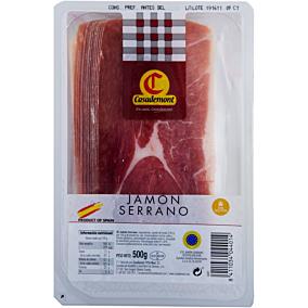 Χοιρινό μπούτι CASADEMONT Jamon Serrano μακράς ωρίμανσης σε φέτες (500g)