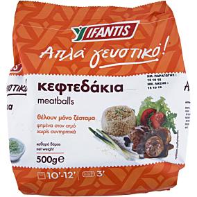 Κεφτεδάκια IFANTIS απλά γευστικό κατεψυγμένα (500g)