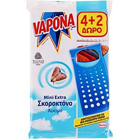 Σκοροκτόνο VAPONA πλακέτες 4+2 ΔΩΡΟ (6τεμ.)