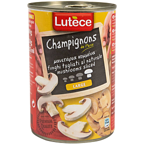 Κονσέρβα LUTECE μανιτάρια κομμένα (400g)