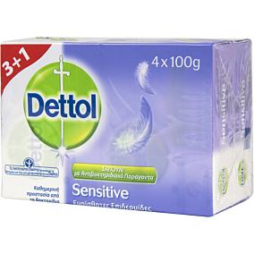 Σαπούνι DETTOL Sensitive πλάκα (4x100g)