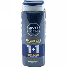 Αφρόλουτρο NIVEA MEN energy 1+1ΔΩΡΟ (2x500ml)