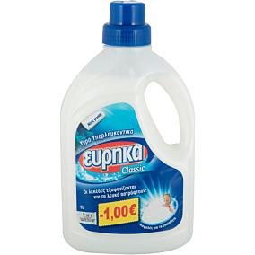 Απορρυπαντικό ΕΥΡΗΚΑ υπερλευκαντικό πλυντηρίου ρούχων, υγρό (1lt)