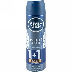 Αποσμητικό σώματος NIVEA Protect & Care, σε σπρέι 1+1ΔΩΡΟ (2x50ml)