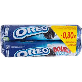 Μπισκότα OREO με διπλή γέμιση βανίλια (2x185g)