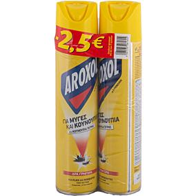 Εντομοκτόνο AROXOL, σε σπρέι -2,5€ (2x300ml)