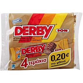 Γκοφρέτα ΙΟΝ DERBY σοκολάτα γάλακτος με crisp rice και γέμιση καρύδας (4x38g)