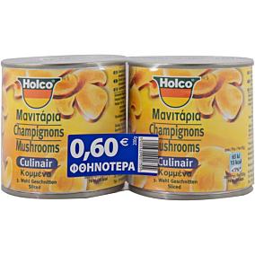 Κονσέρβα HOLCO CULINAIR μανιτάρια κομμένα (2x200g)