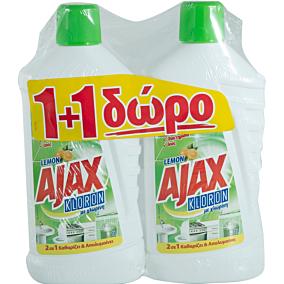 Καθαριστικό πατώματος AJAX Kloron λεμόνι 1+1 ΔΩΡΟ (1lt)