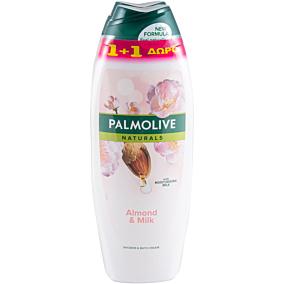 Αφρόλουτρο PALMOLIVE naturals almond and milk 1+1 ΔΩΡΟ (2x650ml)