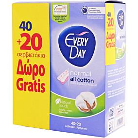 Σερβιετάκια EVERYDAY Normal All Cotton (60τεμ.)